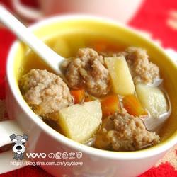 荸荠肉丸汤的做法[图]