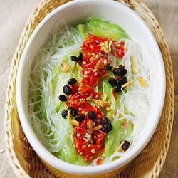 豉香剁椒粉丝蒸丝瓜的做法[图]