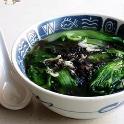 小白菜虾皮汤的做法[图]