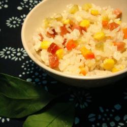 红薯玉米熏肉饭的做法[图]