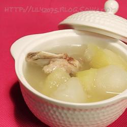 青木瓜海底椰猪骨汤的做法[图]