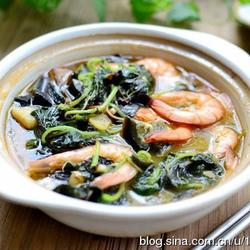 鲜虾皮蛋苋菜煲的做法[图]