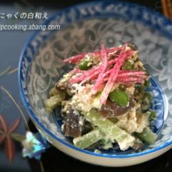 日式白酱拌枝豆和魔芋的做法[图]