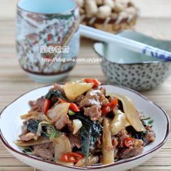 子姜紫苏炒牛肉的做法[图]