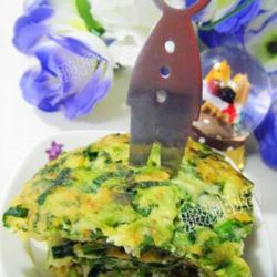 菠菜虾皮鸡蛋饼的做法[图]