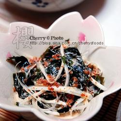 芝麻醬蔥白海帶芽的做法[圖]