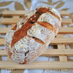 黑糖果仁欧式面包的做法[图]