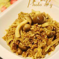 蟹味菇咖喱炒饭的做法[图]