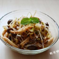蟹味菇拌豆芽的做法[图]