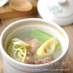 千張咸肉筍片湯的做法[圖]