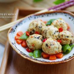 时蔬烩麦香豆腐丸子的做法[图]
