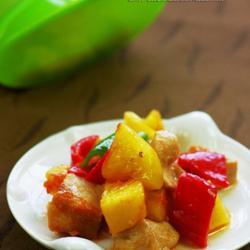 彩椒菠萝鸡丁的做法[图]