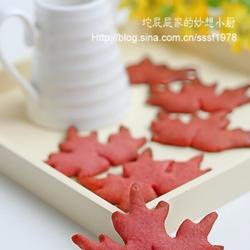 红曲枫叶饼干的做法[图]