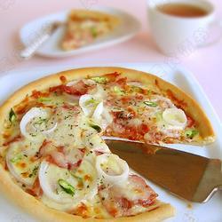 熏肉洋葱披萨的做法[图]