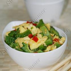 剁椒苦瓜炒蛋的做法[图]