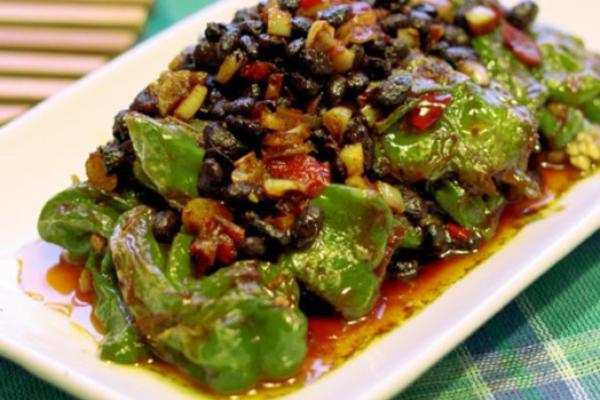 干豆豉煎虎皮青椒