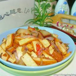 熏肉洋葱炒豆干的做法[图]