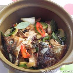 三杯砂锅鱼头的做法[图]