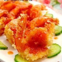 茄汁琵琶虾的做法[图]