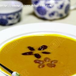 奶油蜜豆南瓜羹的做法[图]
