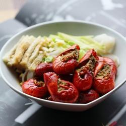 凉皮拌红烧小龙虾的做法[图]