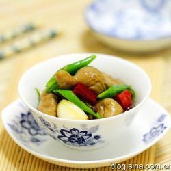 尖椒炒肥肠的做法[图]