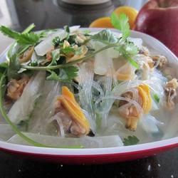 萝卜粉丝蛤蜊汤的做法[图]