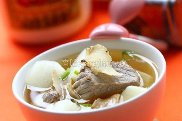 萝卜天麻豆酱汤