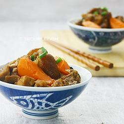 红萝卜桂圆炆兔肉的做法[图]