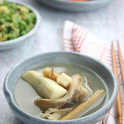 五指毛桃淮山泥蛇汤的做法[图]