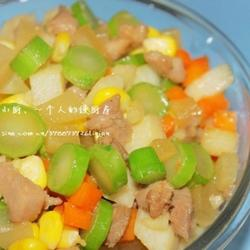 蔬果五宝肉丁的做法[图]