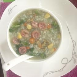 早餐干貝發菜粥的做法[圖]