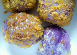 紫薯芝士丸