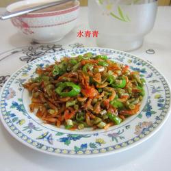 咸豆角炒米虾的做法[图]