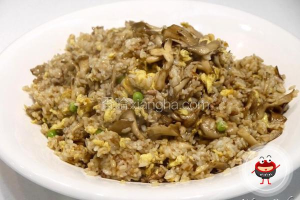 红葱肉燥菇菇炒饭
