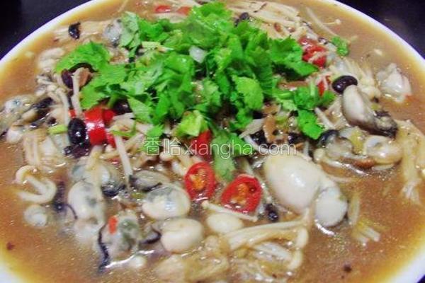 豆鼓金针菇烩鲜蚵