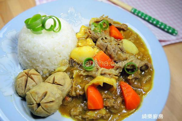 牛肉蔬菜咖哩饭