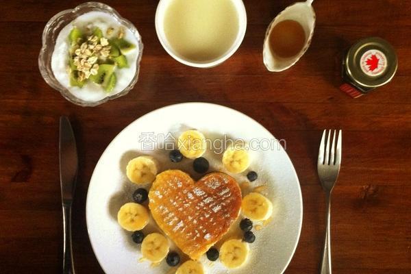 蜂蜜豆渣松饼