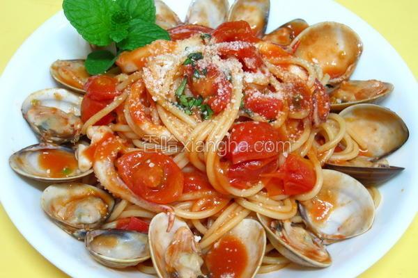 海鲜番茄意大利面