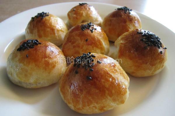 Q心芝麻汤圆面包