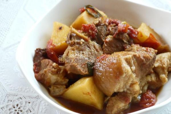 番茄马铃薯炖肉