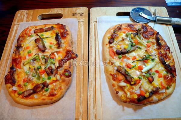 咸猪肉鲜蔬披萨