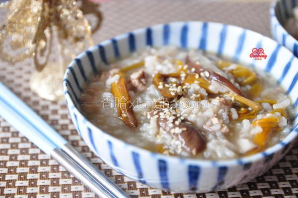 金针香菇肉末粥