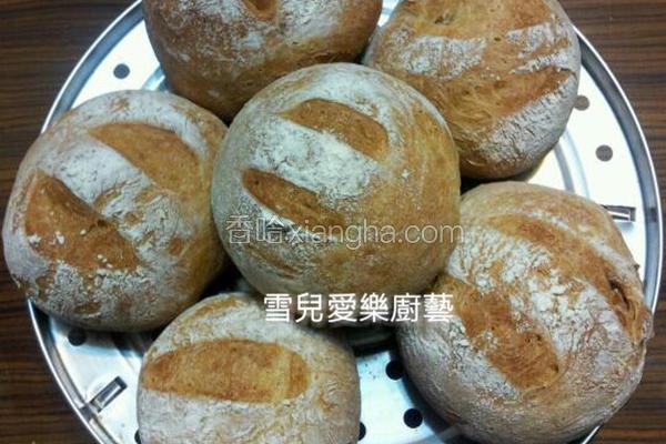 核桃乡村免揉面包