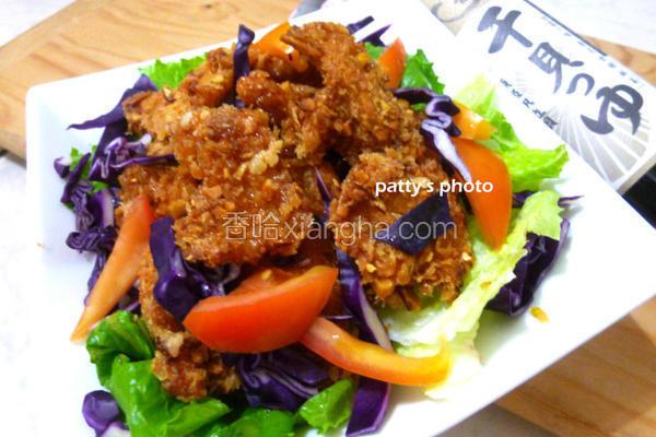 坚果鸡肉沙拉