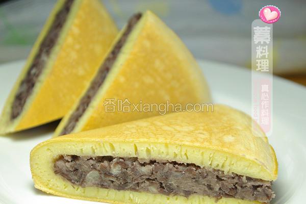 红豆面粉煎饼