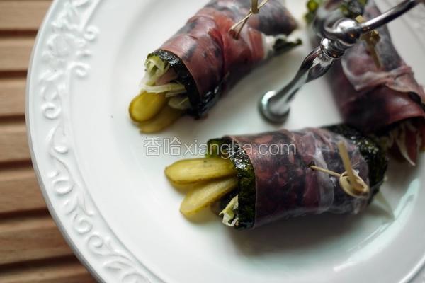 帕马磨菇海苔卷