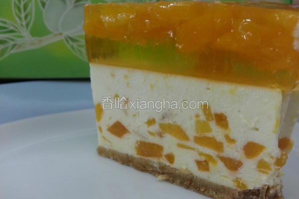 芒果芝士冻饼