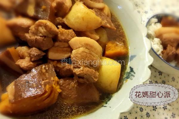 南瓜马铃薯炖肉