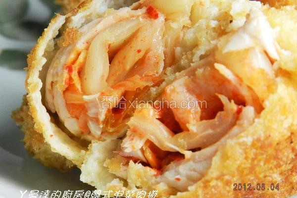 韩式泡菜肉卷